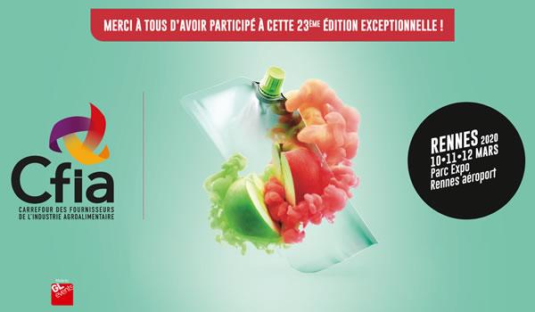 CFIA Rennes 10 mars 2020 : nous serons présents !