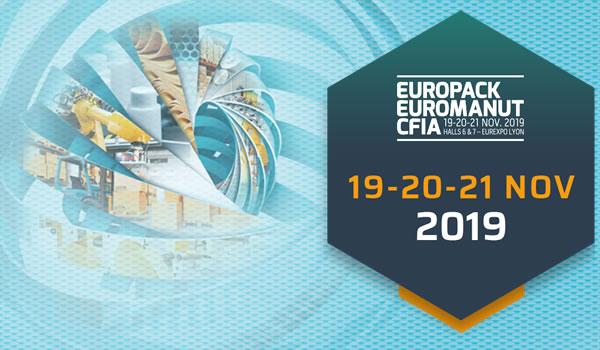 Salon EUROPACK EUROMANUT CFIA 2019