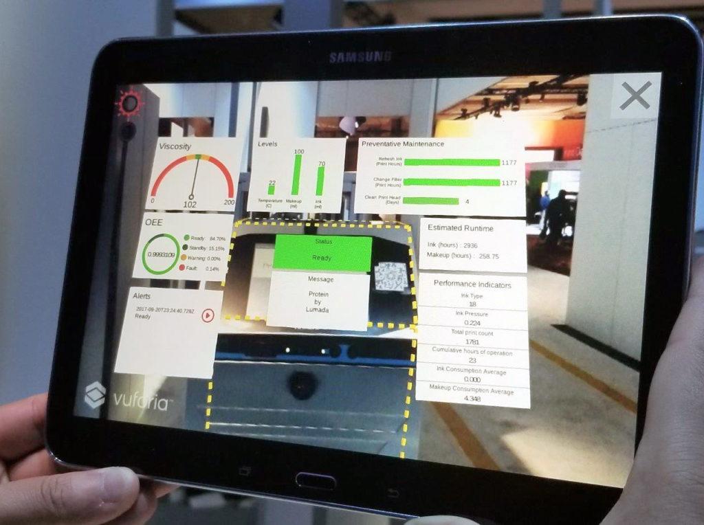 Application de réalité augmentée pour une imprimante Hitachi